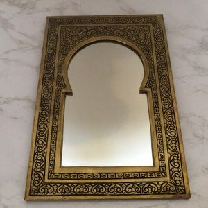 Moroccan style mirror. Brass tone.